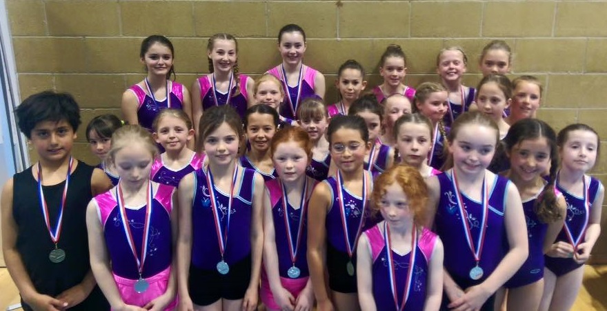 9a21f2e46e67 Over 100 gymnasts from Leatherhead & Dorking Gymnastics Club took part in  the Surrey Floor & Vault Teams Championships at The Guildford Spectrum  winning 4 ...